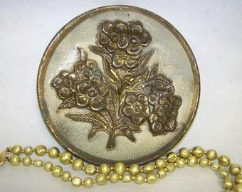 Metal Plate Embossed Metal Flower Plate England