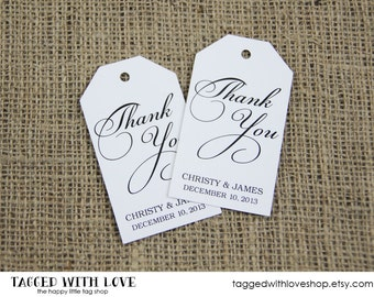 Thank You Tag - Thank You Tags - Wedding Favor Tag - Shower - Baptism - Bridal Shower Tags - Custom Tag - Party Favor Tags - LARGE