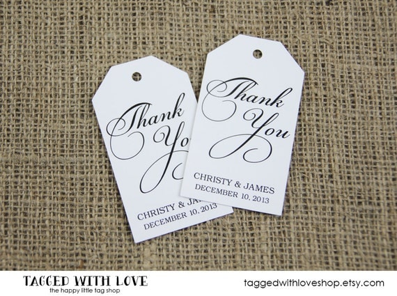 Thank You Tag - Custom Thank You Tags - Party Favor Tags - Bridal Shower Tags - Party Thank You Tags - Custom Tags - MEDIUM