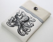 Laptop sleeve, Ultrabook Case, Netbook Cover,  front pocket, Octopus, grey, Laptop case cover, Kraken, protective travel case for laptop