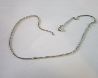 Vintage 16 Inch Steel Chain Necklace