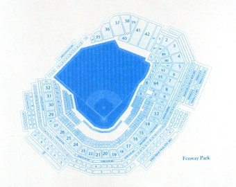 Boston Red Sox Fenway Park Blueprint