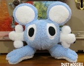 Light Blue and White Round Ear Ultra Cuddle Baby Dust Moosies Plush Toy
