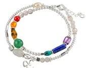 I AM COMPLETE // Double Wrap Bracelet // Sterling Silver Bracelet // Silver Jewelry // AUM Jewelry // Chakra Jewelry // Chakra Bracelet