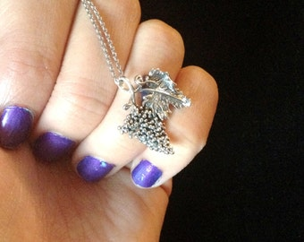 Beautiful Sterling Silver Grape Necklace