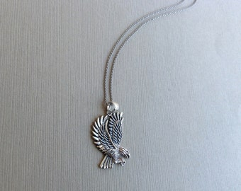 Eagle Necklace in Sterling Silver, Eagle Jewelry