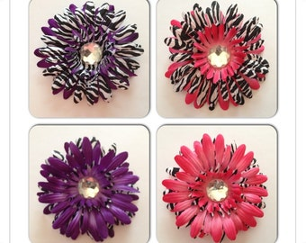 Double Layers of Colors Gerber Daisy Flower Hair Clip
