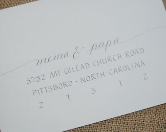 "Wedding Invitation Addressing - Hand Calligraphy Envelope Addressing ""Tessa Style"" - Coordinating Wedding Invitations Also Available"