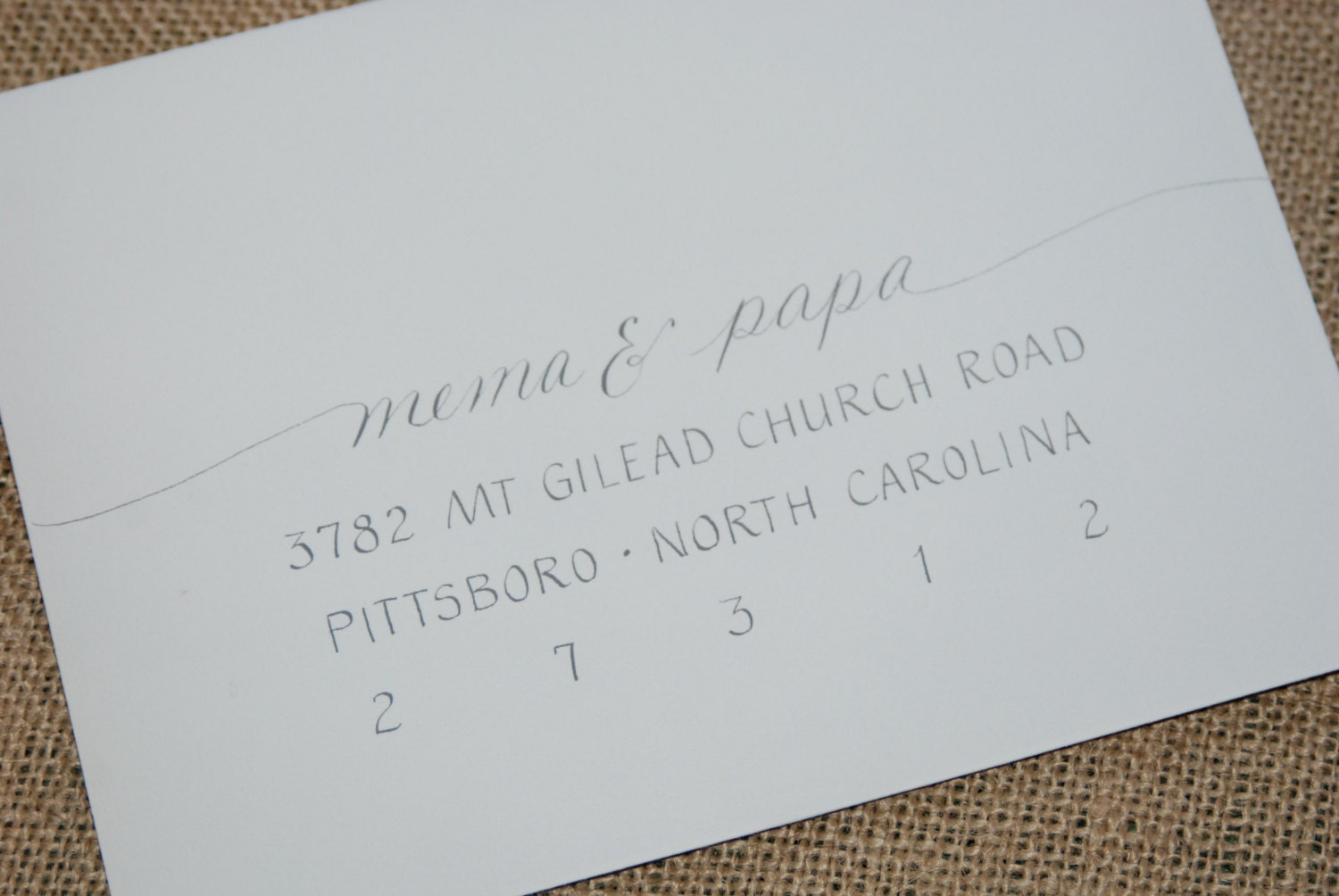Wedding Invitation Addressing Hand Calligraphy Envelope