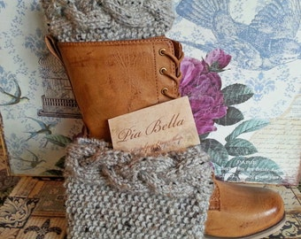Cable Knit Boot Cuffs Choose your colors - Boot toppers, Boot socks - leg warmers Size M