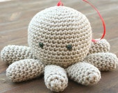 Crochet Mr. Tako Amigurumi filled with Home-grown Lavender - aureliaslittleroom