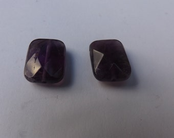 Facetted Amethyst Earring Pair of beads