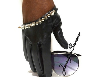 Half Palm Gloves with Spikes and Studs