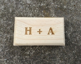Engraved Ring Box for Ring Bearer or Gift Box Rustic Wedding