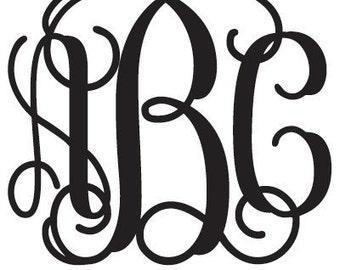 2.5 inch Vine Monogram set of two