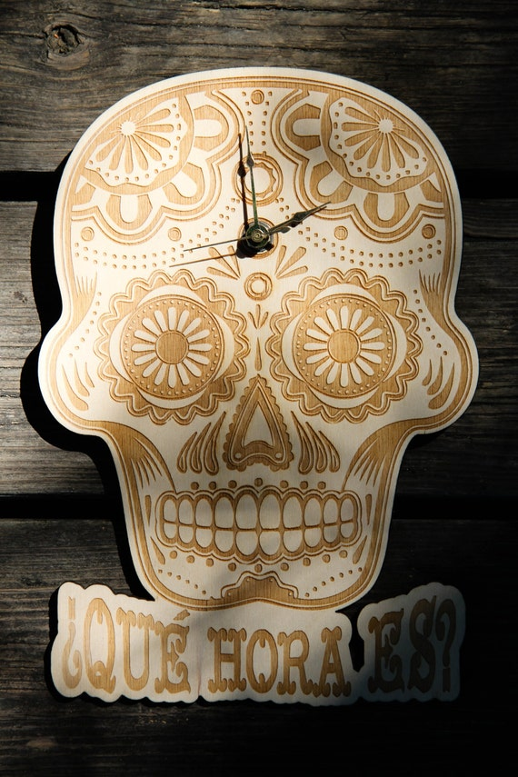 Dia de los Muertos Clock - Baltic Birch Plywood