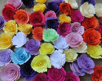 Handmade Paper Roses Set of 20