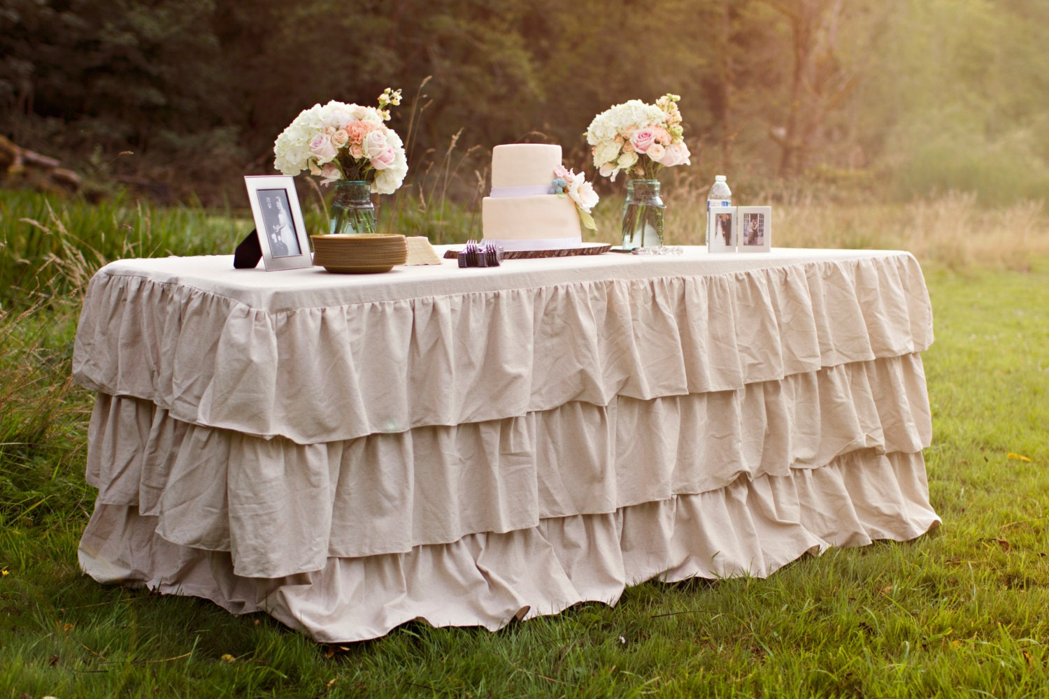 Ruffle Tablecloth Ruffled Burlap Tablecloth By