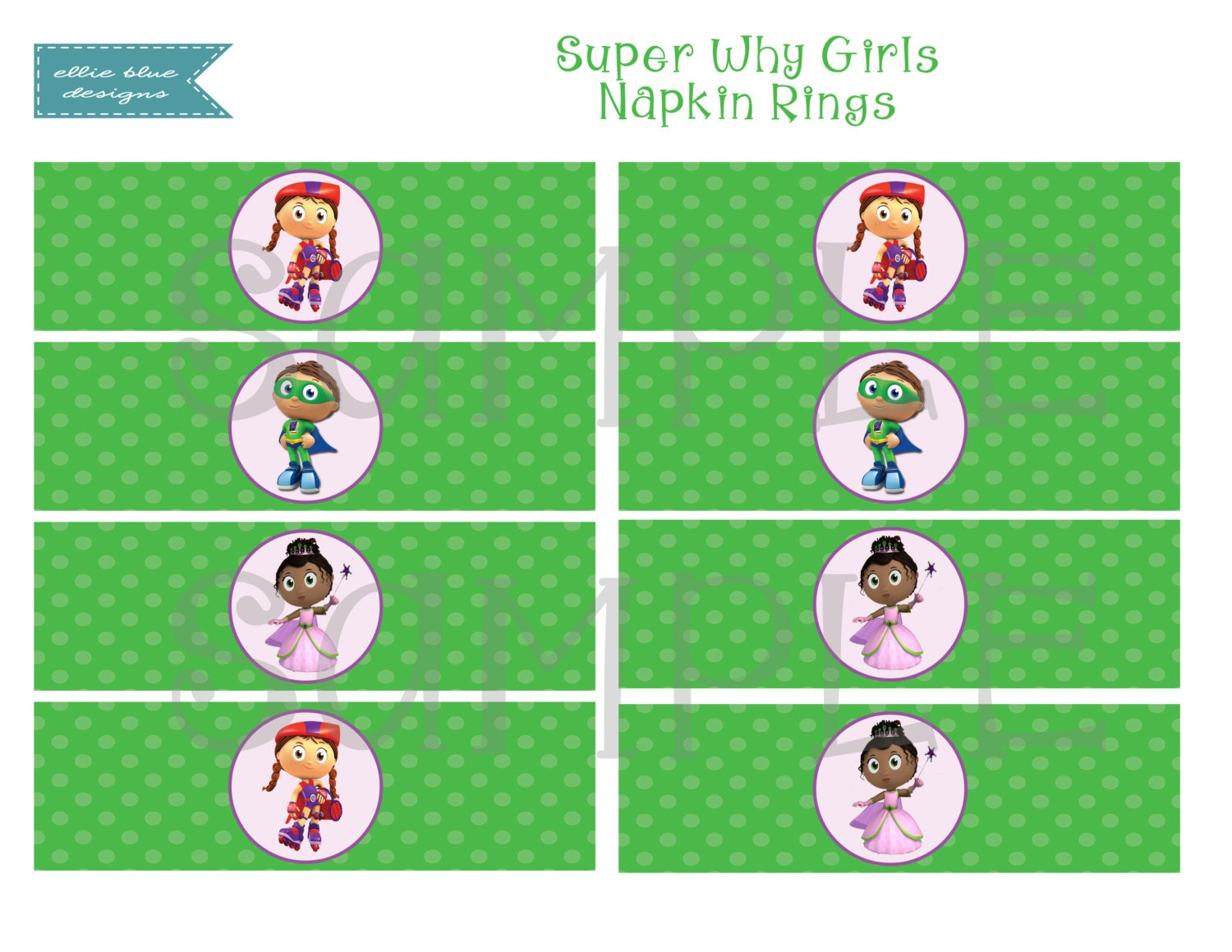 It's just an image of Clean Super Why Printables