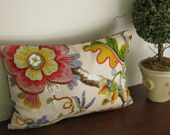 Designer Floral and Leopard Pillow Cover 19 x 13 Inches