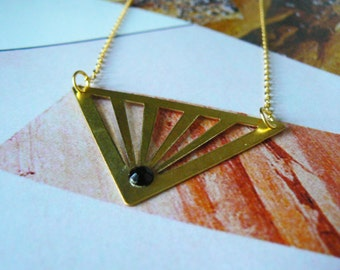 Gold Cut Out Triangle Necklace