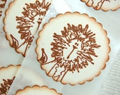 Baby Lion Stickers, Lion/ Circus Party Theme  -Set of 12 Stickers/ Envelope Seals (Children's Party/ Baby Shower/ Decor/ Invitations)