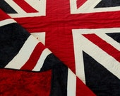 British Flag quilt - 20% OFF sale - union Jack, bold, proud, country and queen, Queen size and ready to ship