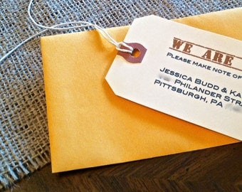 Shipping Tag Moving Announcements (set of 25)