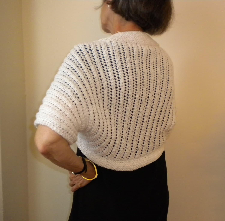 Knit BOLERO /SHRUG PATTERN Cascading Lights