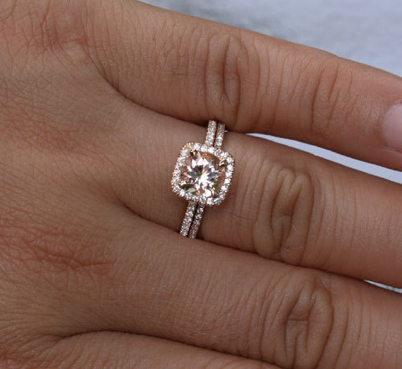 like this item - Morganite Wedding Ring