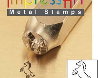 Impress Art 6mm Standing Horse Metal Design Stamp - Metal Stamp - Metal Stamping and Jewelry Tool - SGSC156-X-6mm