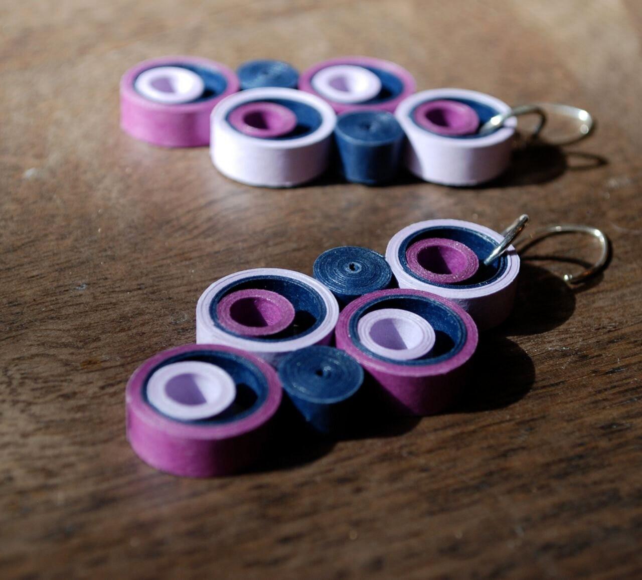 St anniversary gift paper earrings for best friend