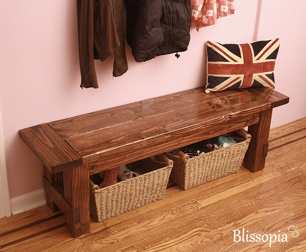 Farmhouse Bench Wood Dining Bench Entryway Bench