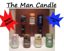 The Man Candle with pedestal (Customize Your Own: Choose a Beer Bottle & Scent)