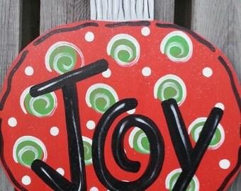 Christmas Door Hanger, Holiday Door Hanger, Ornament Door Hanger, Christmas Wreath, Ornament Sign