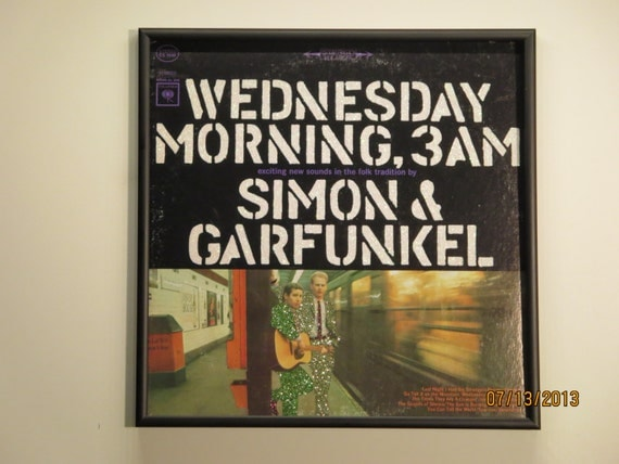 Glittered Record Album - Simon and Garfunkel - Wednesday Morning, 3AM