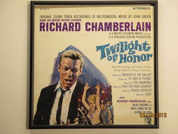 Glittered Record Album - Twilight of Honor - Soundtrack (Richard Chamberlain)
