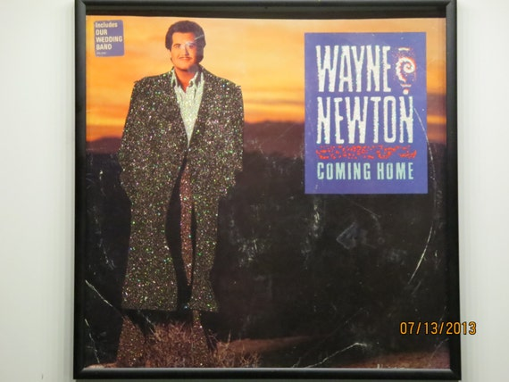 Glittered Record Album - Wayne Newton - Coming Home