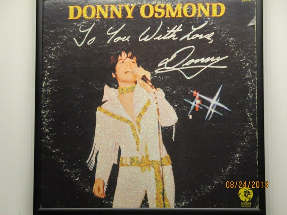 Glittered Record Album - Donny Osmond - To You With Love, Donny