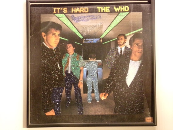 Glittered Record Album - The Who - It's Hard