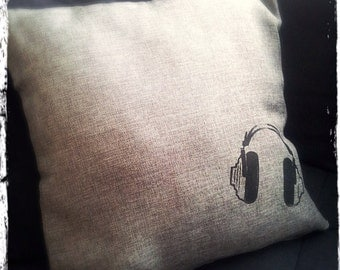 Retro Headphones Pillow Case ON SALE