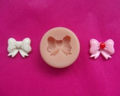 BOW with love heart.  Food Grade Silicone Mold for Fondant, Chocolate, Sugar Craft, Cake Topper.