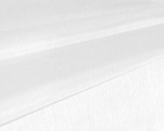 White Organza Fabric by the Yard, Wedding Decoration Organza Fabric, Sheer Fabric - Style 1901
