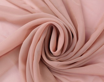 Mauve Solid Hi-Multi Chiffon Fabric by the Yard, Chiffon Fabric, Wedding Chiffon, Lightweight Chiffon Fabric - Style 500
