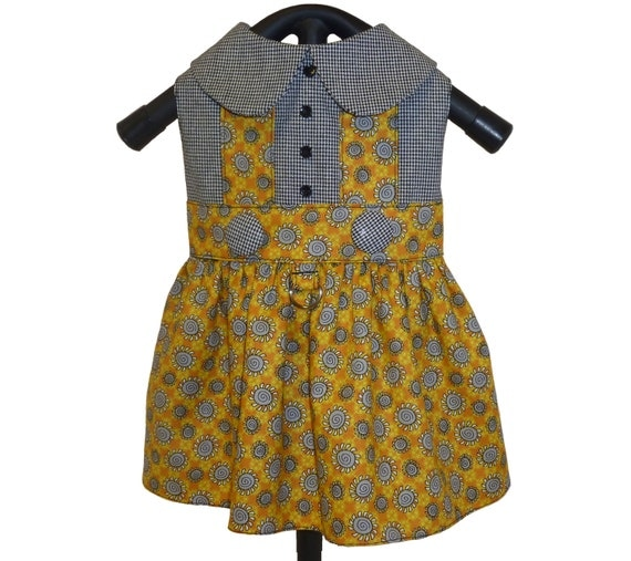 Ready Made Clothing : Sale small ready made little dog clothes dress in saffron