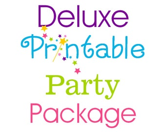 Deluxe Printable Party Package