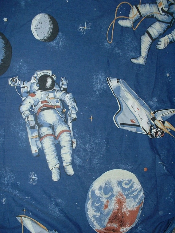 Unavailable listing on etsy for Space themed fabric