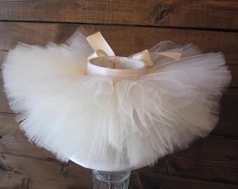 Ivory Tutu || Short & Sweet Style || baby girl tutu skirt || birthday tutu || girl tutu || dance tutu || nb-4T