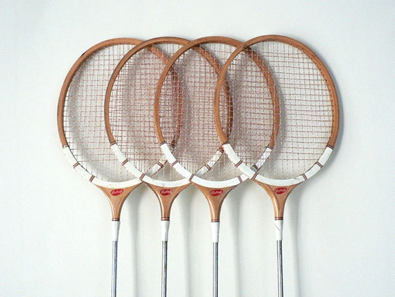 Vintage Badminton Racket Set By LongSince On Etsy