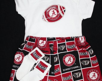 Alabama 3pc Boys Bodysuit set